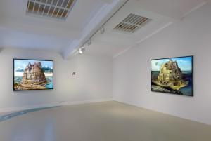Babel London (After Breugel) 2015 (L), Tower of London (After Breugel) 2005 (R)