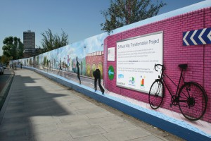 Hoarding Design: St Pauls Way Transformation Project (2009-10)