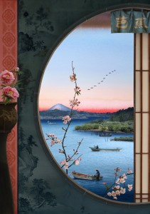 Tokyo Story 11: Picture Window (after Hiroshige) 2020