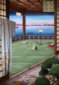 Tokyo Story 4: Interior (after Hiroshige) 2011