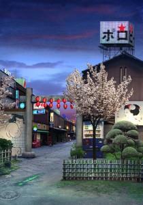 Tokyo Story 7: Nightfall (after Hiroshige) 2011