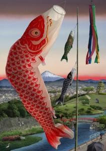 Tokyo Story 12: Spring Festival (after Hiroshige) 2020