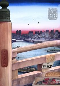 Tokyo Story 2: Bridge (after Hiroshige) 2011