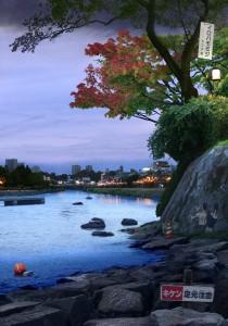 Tokyo Story 9: Bankside (after Hiroshige) 2011